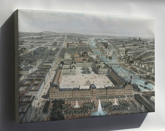 Canvas 16x24; Paris France 1850