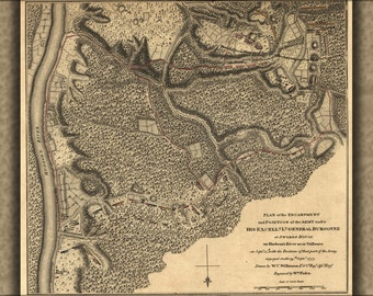 16x24 Poster; Revolutionary War Map Of Hudson River 1777
