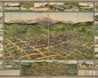 16x24 Poster; Map Of Cripple Creek, Colorado 1896