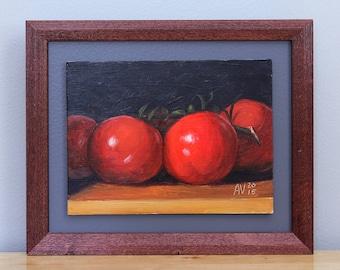 Tomatoes on the vine Painting, Framed Kitchen Art by Aleksey Vaynshteyn