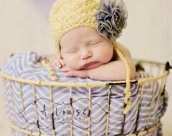 The Eagan hat, baby girl hat, girl hat, flower hat, child hat.  Pink hat
