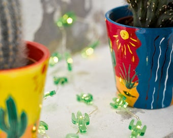 1 light-up cactus garland - Mini Cactus Lights - led lights