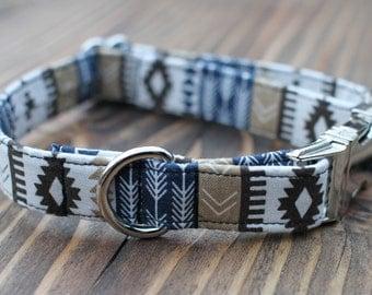 Southwest Collar | Male Dog Collar | Tribal | Metal Buckle | Dog Collar | Large Dog Collar | Small Dog Collar | Pet Collar