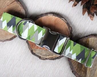The Evergreen, Green Dog Collars, Mountain Collars, Rustic Dog Collars, Boy Dog Collars, Rustic Collars, Mountain Dog Collars, Dog Collars