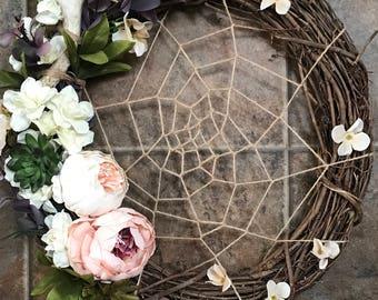 Webbed Flora Wreath