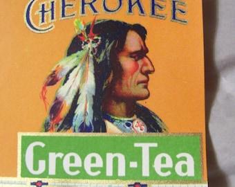 Label Engelhard's Cherokee Green-Tea 4 Ounces CL Litho Louisville KY 12x3-1/4