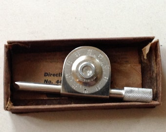 Vintage Miller Falls 440 Speed Indicator with Original Box and Instructions