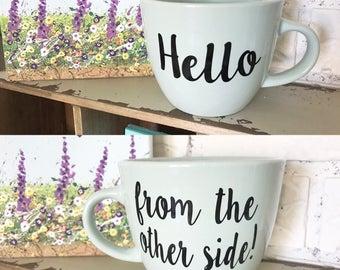 Adele, Hello from the Other Side, Gifts for Her, Personalized Mug, Custom Mug, Adele Mug, Vinyl Decal, Coffee Mug