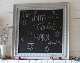 Farmhouse Christmas, Farmhouse Decor, Farmhouse Chalkboard, Large Chalkboard, Wedding Decor, Wedding Seating Chart, Large Framed Chalkboard