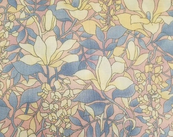 Vintage hoffman international windsor collection screen print floral cotton fabric 28x44 VF2
