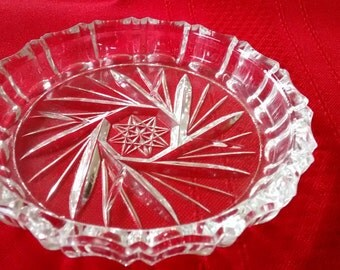 Lot of 7 Vintage Pinwheel Glass Coaster