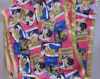 Fiorucci scarf vintage. Made in ITALY Kitsch Mid century