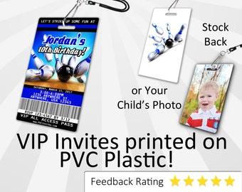 Bowling Invitation PLASTIC Bowling, Bowling Invitation, Birthday Invitation, Birthday Invite, Bowling Birthday Invitation SKU-INV045