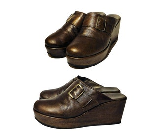 Women's shoes, mules, clogs, platforms, platform shoes, leather shoes, Italian, ladies shoes, slip on shoes, women's clogs, made in Italy