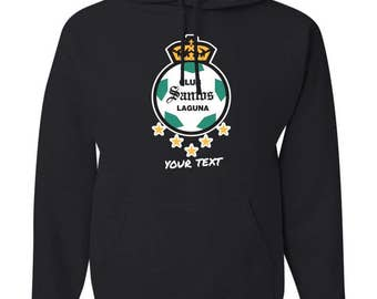 Santos Laguna Mexico Hooded Sweatshirt Hoodie Hoody Sudadera With Custom Text(optional)