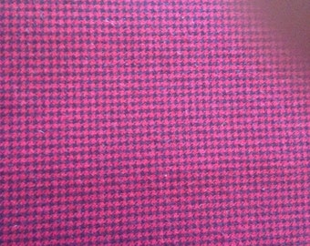 3 Yards 100% Cotton Red and Black Houndstooth Fabric