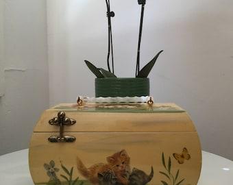 Vicki Jean decoupage box purse