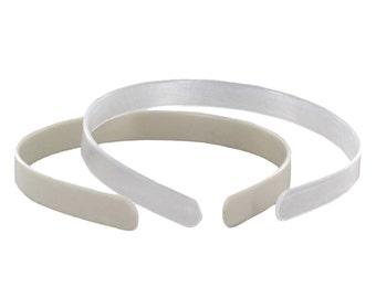 "1/2"" White Plastic Headbands - 6 pack"