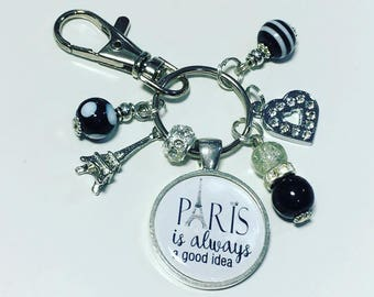 Paris keyring, Paris keychain, Paris is always a good idea, Paris gift