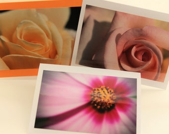 Flower  photo card stationary set blank greeting cards 8