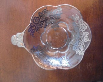 Silver Overlay Candy Dish