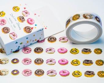 Washi masking tape - donut / Filoxafing DIY scrapbooking decorative ribbon tape