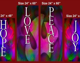 Fruit of the Holy Spirit - Banner Set of 4 (G216)