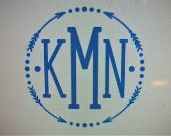 Cute Monogram Decals Pictures To Pin On Pinterest Clanek - Cute monogram car decals