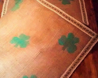 20 dollars off!!!  Get it now for next year!!  Simply Shamrocks Burlap Table Runner