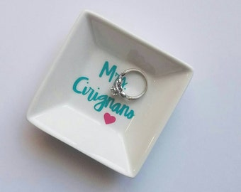 Personalized Jewelry Dish/Ring Dish / engagement gift / bridal gift