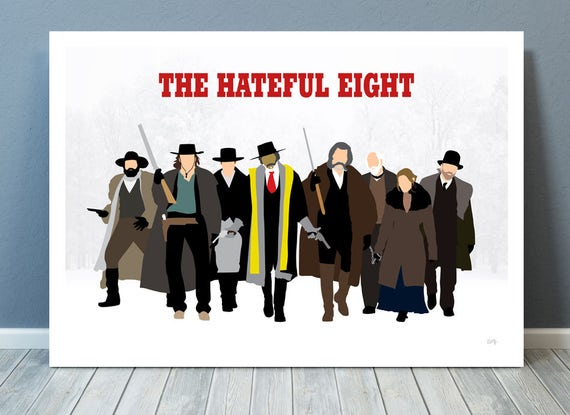 The Hateful Eight // Quentin Tarantino // Minimalist Movie Poster // Unique A4 / A3 Art Print