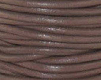 """2mm Round Leather 2mm """"Enland"""" Round Leather Sold By The Yard Or Spool #11"""