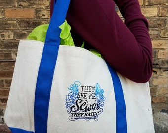 They See Me Sewin', They Hatin' - Craft Handbag