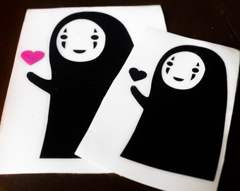 No Face Decal, Spirited Away, Studio Ghibli, Vinyl, Sticker