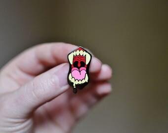 Natural Maw Hard Enamel Pin