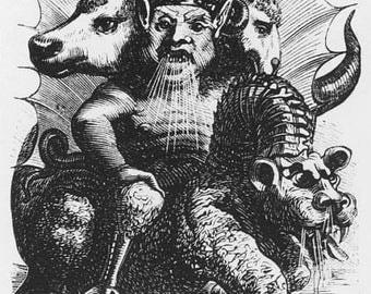 57 rare old vintage books about Demonology, Devil