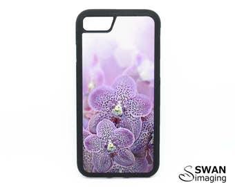 Purple Orchids Phone Case ~ TPU Case ~ iPhone 5/5S, SE, 6/6S, 6/6S Plus, iPhone 7, 7 Plus ~ Samsung Galaxy S5, S6, S7, S7 Edge, S8, S8 Plus