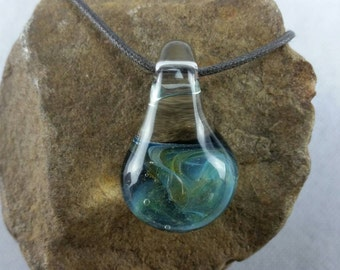 Sewn and Blown: Handmade Glass pendant, boro glass pendant, borosilicate, Heady boro, boro art, lampwork glass necklace