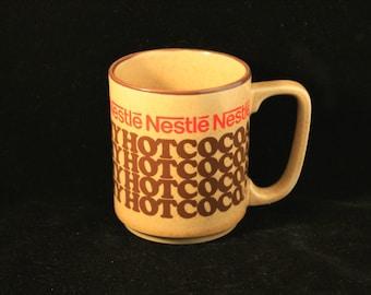 Vintage Nestle Rich N Creamy Hot Cocoa Ceramic Stoneware Mug Cup