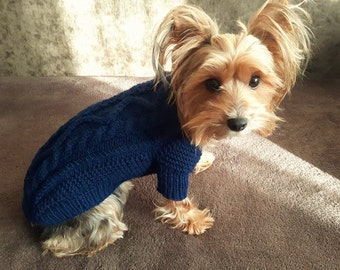 Pet top Knitted dog top Pet Clothing Knit dog clothes Dog Sweaters Handmade