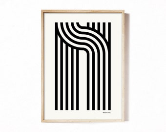 Letter N - modern typography alphabet print.