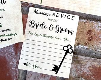 Advice for the Bride and Groom. Miss to Mrs - Key to a happily ever after - key to a happy marriage
