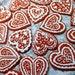 One Dozen (12 pcs.) Heart Shape Red Velvet Gingerbread Cookies, Love, Valentine's Day, Wedding, Bridal Shower
