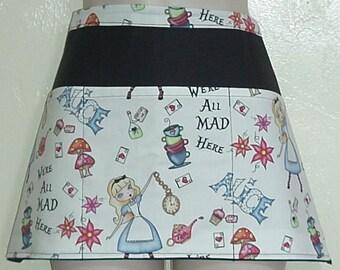 DisneyAlice in Wonderland All Mad waitress half apron with three pockets 6178