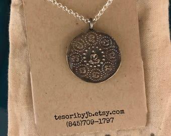 fine silver buddha pendant