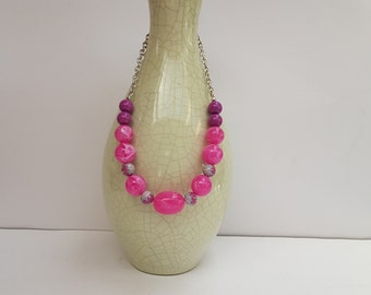 Bubble Necklace,Pink Necklace,Hot Pink Necklace,Bold,Large,Chunky,Australian Made,Ladies Gift,Statement Necklace,Gift for Her,Eye Catching