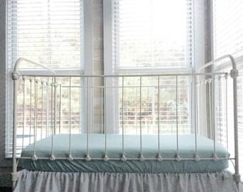 Fitted Crib Sheet - Mist Crib Sheet - Mist Fitted Crib Sheet - Cotton Crib Sheet - Crib Sheet Girl - Crib Sheet Boy - Cotton Crib Sheets