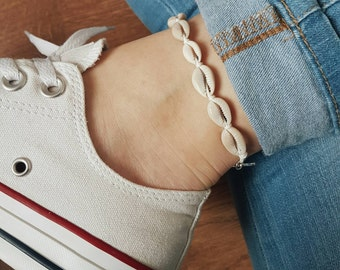 Lucky Shells Anklet/Bracelet, White