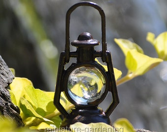 Rustic Lantern, Dark for Miniature Garden, Fairy Garden
