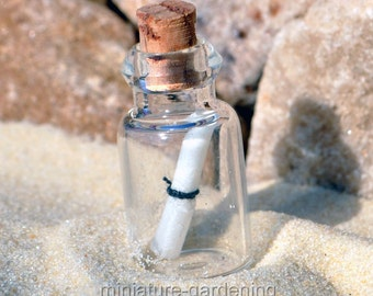 Message in a Bottle for Miniature Garden, Fairy Garden